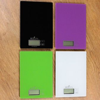 Arian EcoSpa Digital Kitchen Scales | 4 Colours | White, Green, Black & Purple